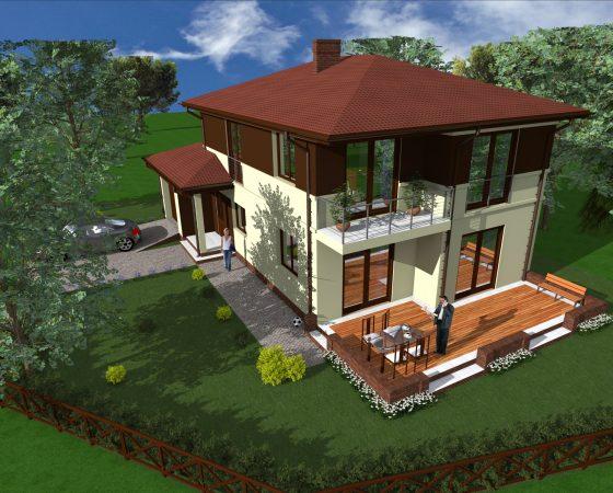 Dom jednorodzinny Puławy – Domek A